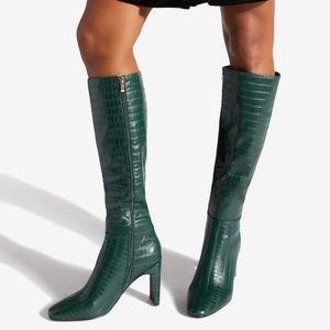 Green Ermelinda Blade Heeled Boot